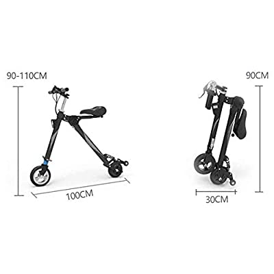 """Electric Scooter, Aluminum Alloy Body, Fast Charging Speed, Speed Electric Scooter for Adults with 8"""" Tires, Step Portable Folding : Sports & Outdoors"""