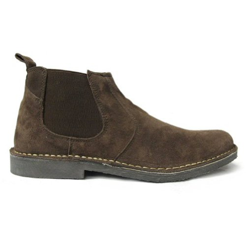 leather suede twin gusset chelsea boots XNXZCn