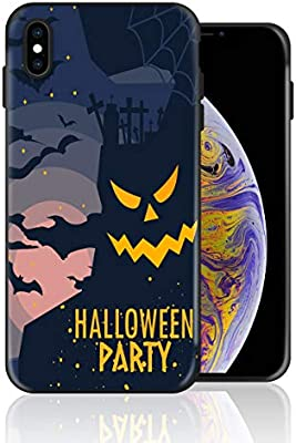 Silicone Case For Iphone Xs Max Halloween Haunted House Party Phone Case Full Body Protection Shockproof Anti Scratch Drop Protection Cover
