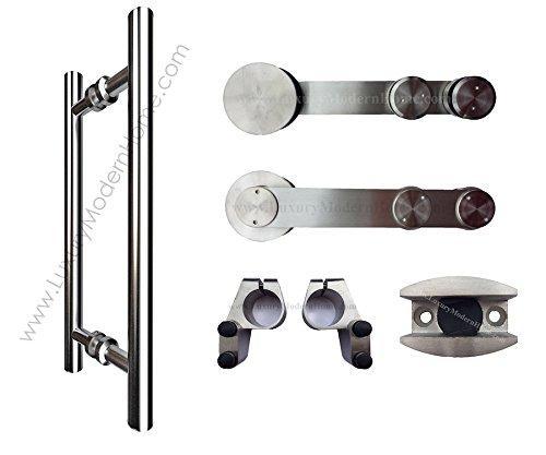 sbd BERLIN - Sliding Barn Door Hardware GLASS - Additional Door Hardware ONLY by www.LuxuryModernHome.com (Image #7)