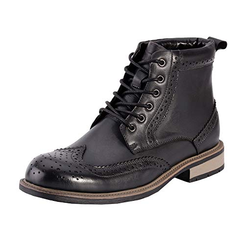 Rotonda Stivali Pattuglia Vera Punta Autunno Brogue Uomo Lace Uomo Anti Outdoor Nero Martin Top Casual Slip Desert Sicurezza Army Scarpe Pelle WKNBEU B Marrone Boot Up High Inverno Lavoro Sz1xq