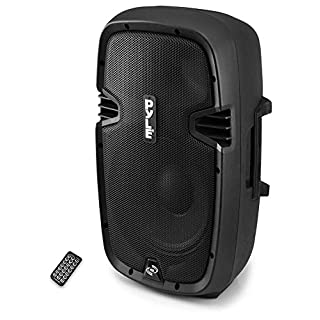 "Powered Bluetooth PA Microphone System - 15"" Active Bass Subwoofer Loudspeaker Built-in USB for MP3 Amplifier - DJ Party Portable Sound Stereo Amp Sub Concert Audio or Band Music - Pyle PPHP1537UB"