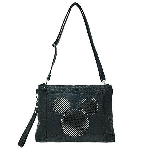 Stud Disney Del Bag Cross Leathe Negro Mickey Body Falso Embrague Hombro Mouse ErwrCq