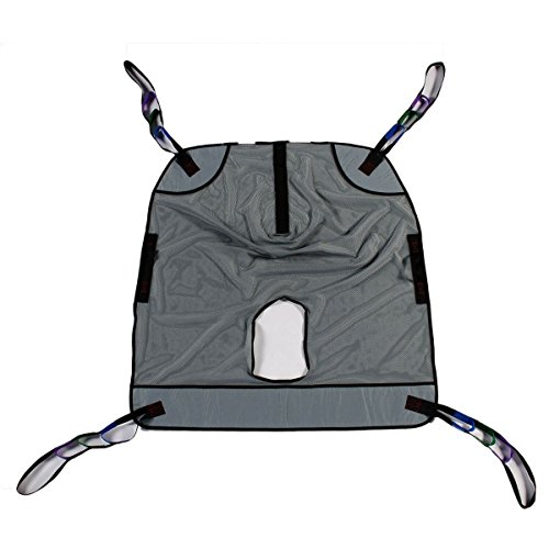 Bariatric Heavy Duty Full Body Mesh Commode Patient Lift Sling, 600lb Weight Capacity (Extra (Bariatric Sling)