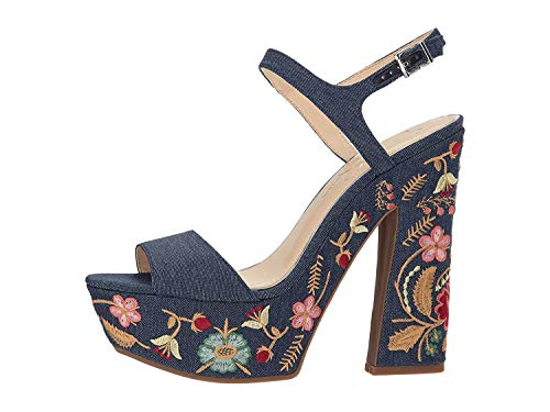 Jessica Simpson Womens Divella2 Wedge Sandal, Dark Denim, Size 9.5