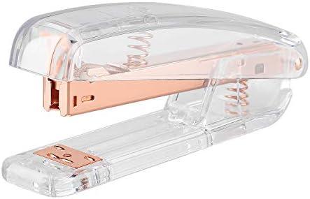 KIDMEN Rosegold Desk Accessory Kit,Set of Stapler, Staple Remover,1000pcs Staples,Tape Dispenser,Big Diamond Ballpoint Pen and 10pcs Binder Clips 41PRIZKf98L