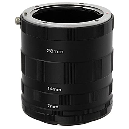 Fotodiox Macro Extension Tube Set Compatible with Nikon F Mount SLR Cameras  for Extreme Close-up Photography