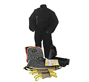 Dean & Tyler 10-Piece Professional Training Bundle Set for Dogs with 1 Large Bite Suit/1 Tri-Bite Sleeve/1 French Linen Cover/1 Advanced Bite Builder/6 Mixed Tugs