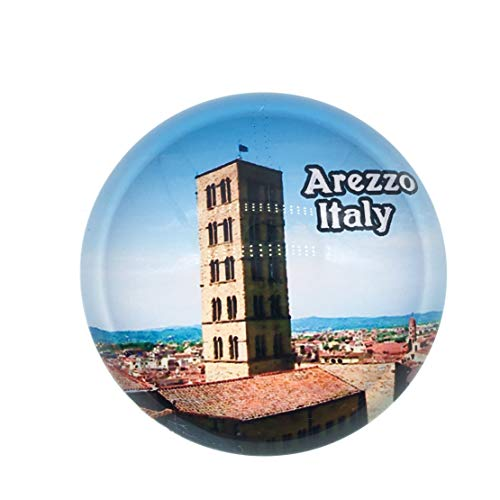 Arezzo Italy Fridge Magnet 3D Crystal Glass Tourist City Travel Souvenir Collection Gift Strong Refrigerator Sticker