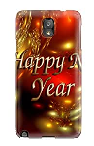 Hard Plastic Galaxy Note 3 Case Back Cover,hot Happy New Year Beautiful Case At Perfect Diy