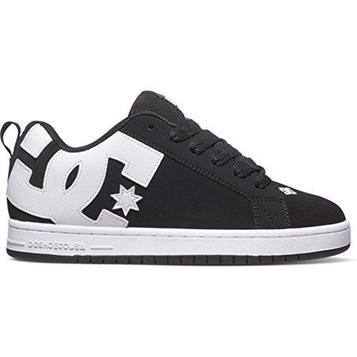 dc-shoes-mens-court-graffik-black-white-leather-trainers-10-us