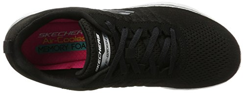 Break Mf Flex Qtr Free Lace Pink 2 Mesh Appeal Women's with White Sport Black Grey Up Stitch Skechers 0 Shoe RFwY6q1