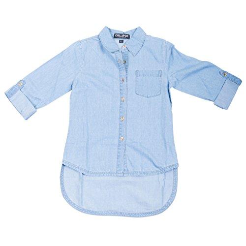 393194-lightblue-5-6-girls-denim-tunic-shirt-high-low-hem-3-4-sleeves