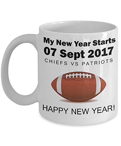 My New Year Starts - Football Fans Bonus - Patriots, Chiefs Coffee Mug