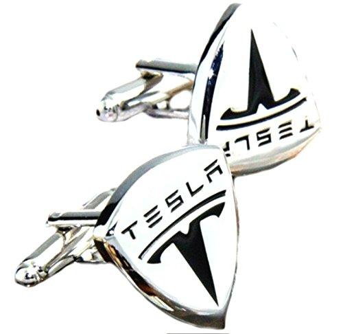 J&C Tesla Logo SUV Auto Electric Car Cufflinks