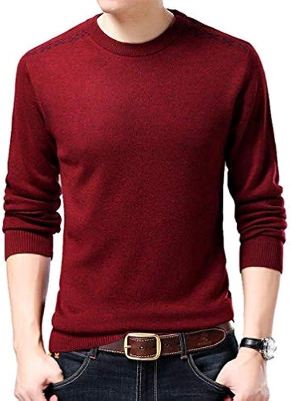 Męski sweter z dzianiny długi rękaw czas wolny sweter odzież sweter okrągły kołnierz z Sweats spiralna mankiet sweter dziergany: Odzież