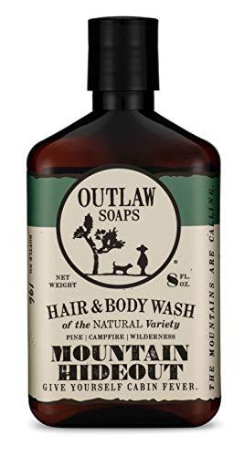 Mountain Hideout Natural Hair & Body Wash - Pine | Damp Earth | Campfire