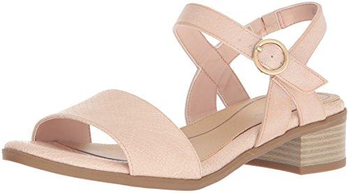 Dr. Scholl's Shoes Women's Westmont Heeled Sandal, Blush Snake Print, 6 M US