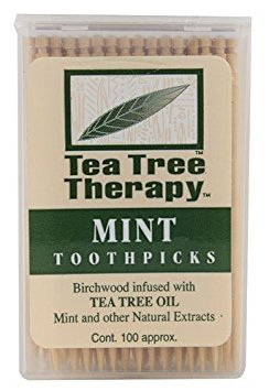 (Tea Tree Therapy, Toothpicks Mint Tea Tree, 100 Count)
