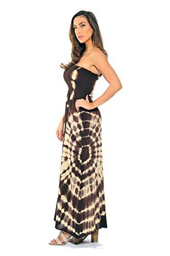Beige Dresses Summer Maxi Sun Brown Strapless Tube Dress Riviera qpc8WTT