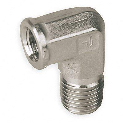 Parker Hannifin 12-12 SE-SS CPI Stainless Steel Street Elbow Pipe Fitting, 3/4'' FNPT x 3/4'' MNPT