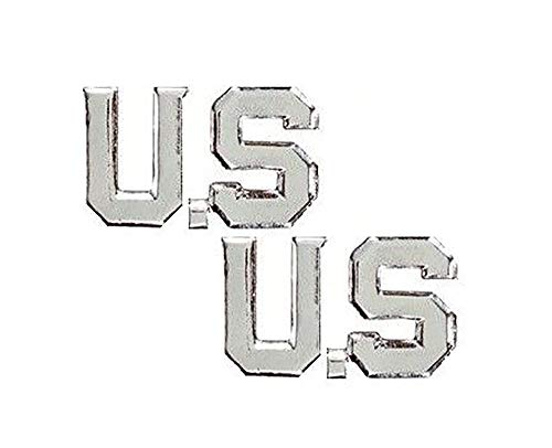 US Air Force Enlisted Collar Insignia Set of Two Silver