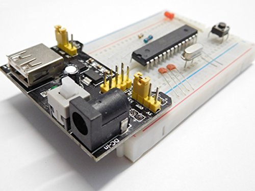 Arduino Atmega328P-PU basic parts kit + bread board 400 + power - Day Canada Shipping Next