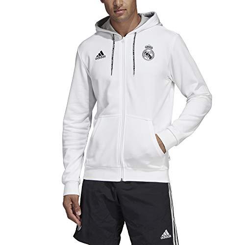 Madrid Blanc Veste gris Capuche À Homme Real Adidas gBwH5q4g