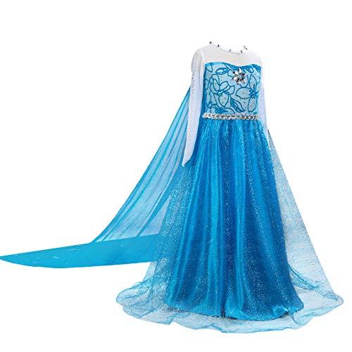 Sexy Snow Queen Costumes - Zerayo Little Girls Anna Princess Dress