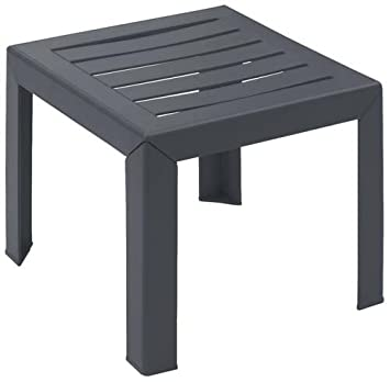 Grosfillex Miami Table Basse Anthracite