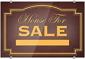 CGSignLab Classic Brown Premium Acrylic Sign House for Sale 36x24