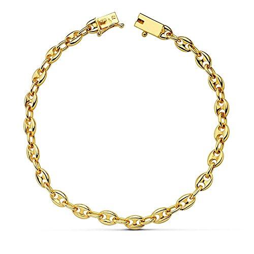 Bracelet 18k or massif noeud 20cm aussières. 5 mm. [AB2421]