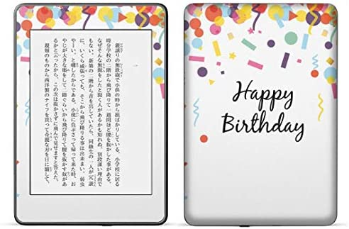 igsticker kindle paperwhite 第4世代 専用スキンシール キンドル ペーパーホワイト タブレット 電子書籍 裏表2枚セット カバー 保護 フィルム ステッカー 015428 誕生日 飾り デコ