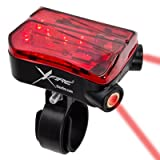 X-Fire 5-LED Taillight with Laser Lane Marker - USB charge