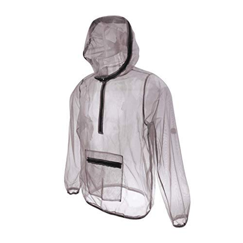 Yundxi Mosquito Insects Bug Mesh Netting Jacket, Breathable Repellent Quick-Drying Protective Clothing for Fishing Hiking Camping Gardening ()