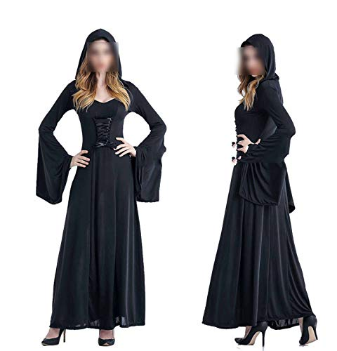 Halloween Scary Cosplay Costumes Hoodie Witch Costume Grim