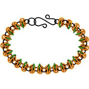 Weave Got Maille Pumpkin Patch Double Orbital Chainmaille Bracelet Kit -