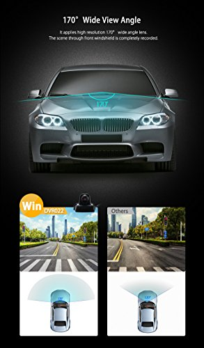XTRONS Full HD 1080P WiFi Car DVR Wireless Camera Night Vision Mini Video Recorder FinalCam APP by XTRONS (Image #3)