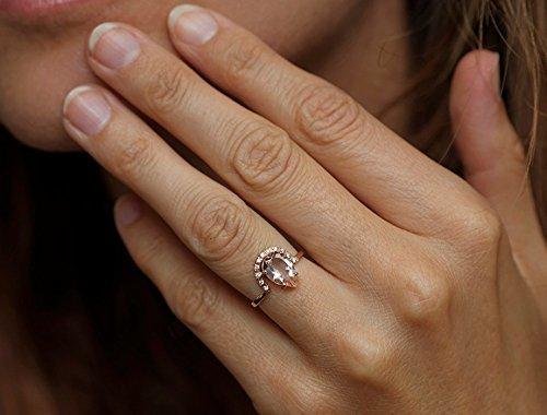 Amazon Pear Morganite Engagement Ring Pear Morganite Ring