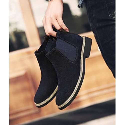 Martin Neige Talons À couleur Blue Bottes cn39 Hauts Eu39 uk6 Chaussures Size Mâle Ff De Ixq054R