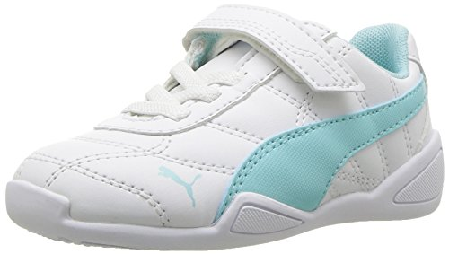 PUMA Baby Tune Cat 3 Velcro Kids Sneaker, White-Island Paradise, 8 M US Toddler