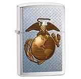 Zippo Pocket Lighter Marines Windproof Lighter, Brushed Chrome