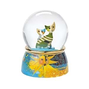 Goebel 66882218 Rosina Wachtmeister Sole - Bola de cristal con figuras de porcelana, diseño de gatos