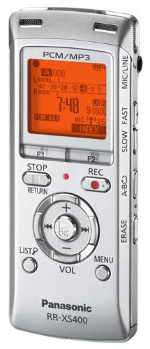 Panasonic RR-XS400 2 GB Personal IC Digital Voice Recorder Silver ()