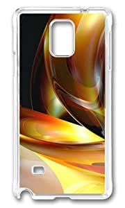 MOKSHOP Adorable 3D abstract designs 3 Hard Case Protective Shell Cell Phone Cover For Samsung Galaxy Note 4 - PC Transparent