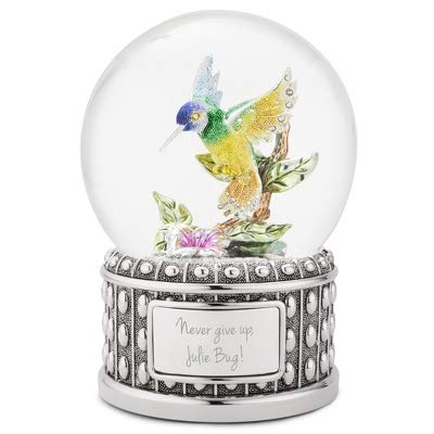 Things Remembered Personalized Jeweled Hummingbird Musical Snow Globe with Engraving Included by Things Remembered