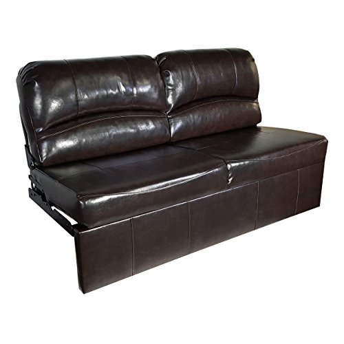 RecPro Charles 70″ Jack Knife RV Sleeper Sofa w/ out Arms Espresso RV Furniture