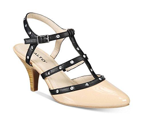 Rialto Womens Mariella Closed Toe Casual Strappy Sandals Natural Patent i2T277