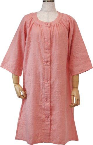 UCHINO マシュマロガーゼ ラグランワンピース (M) ピンク RWZ11034 M P2 B01H1DAQ5C Medium|ピンク ピンク Medium