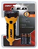 Dorcy 41-2510 Floating Waterproof LED Flashlight with Carabineer Clip, 55-Lumens, Yellow
